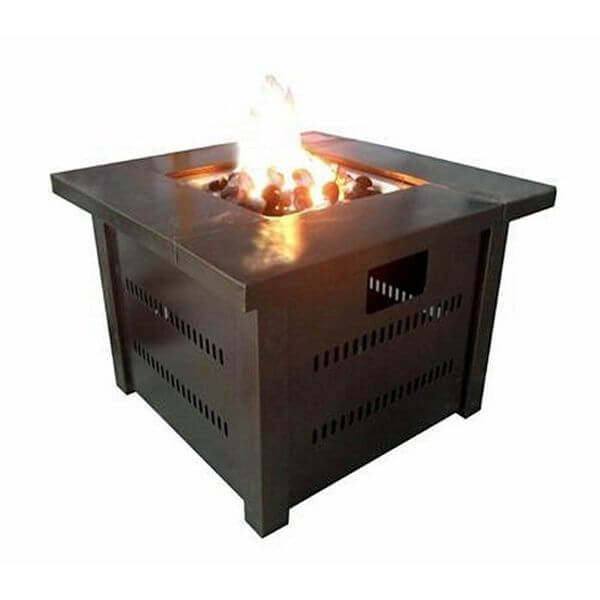 AZ Patio Heaters Propane Fire Pit, Antique Bronze Finish