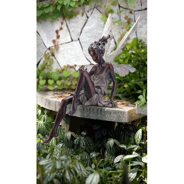Napco Sitting Fairy Garden Statue