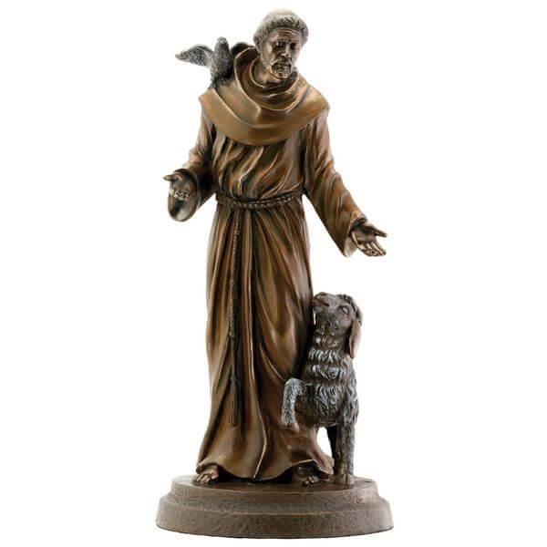 Saint Francis Bronze Garden Statue