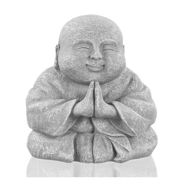 Grasslands Road Happy Praying Buddha Garden Statue