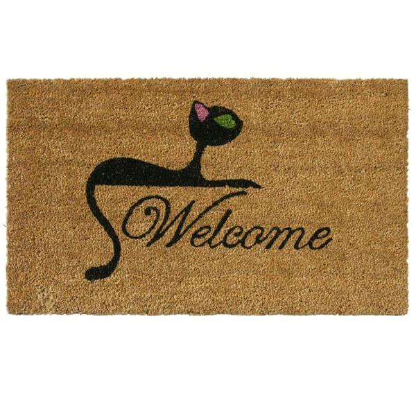 Rubber-Cal Kitty Cat Doormat, 18 x 30-Inch