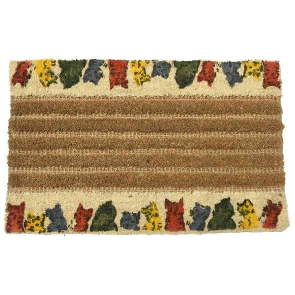Rubber-Cal Outdoor Coir Decorative House Doormat, 18 x 30-Inch