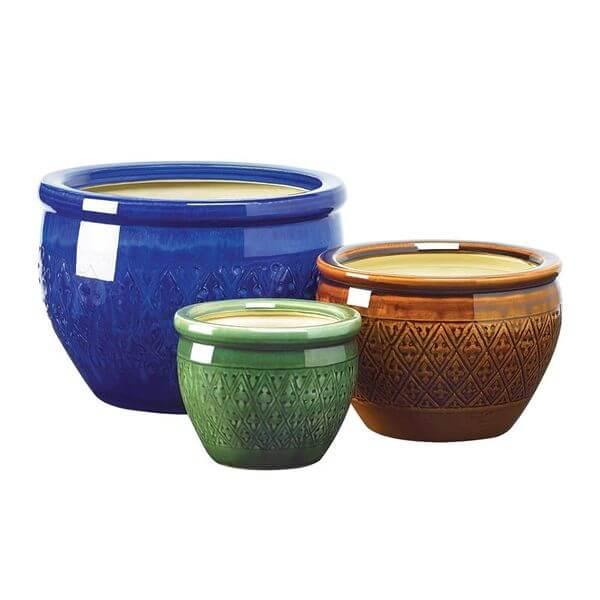 Gifts & Decor Jewel Tone Flower Pots