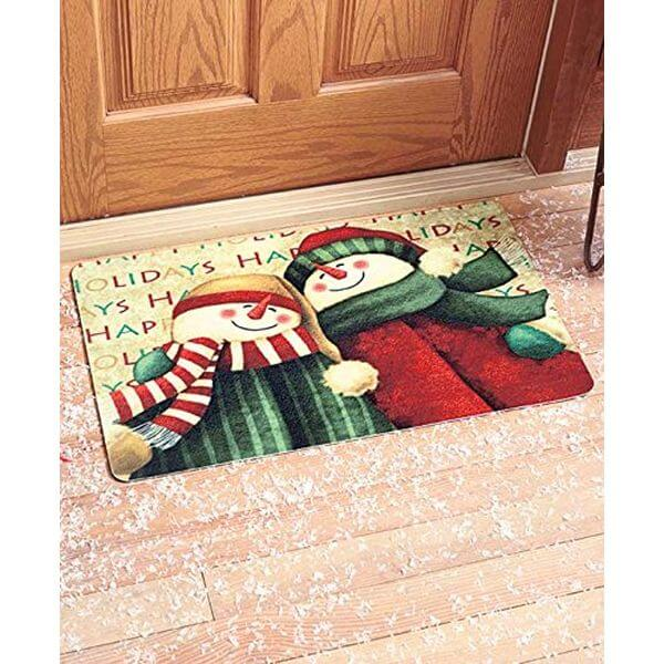 Snowman Happy Holidays Welcome Mat Outdoor/Indoor