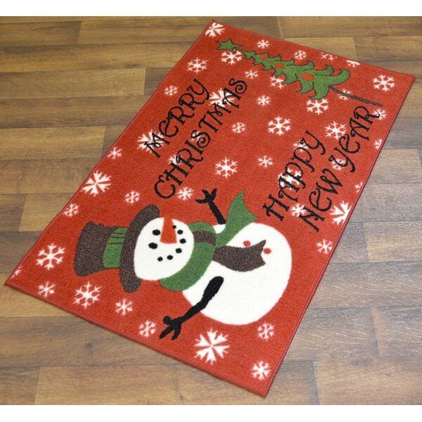 Snowman Merry Christmas Doormat