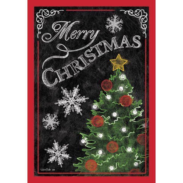 'Merry Christmas Tree' Double Sided Christmas Garden Flag