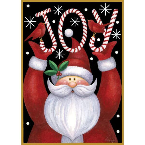 'Santa Joy' Double Sided Christmas Garden Flag