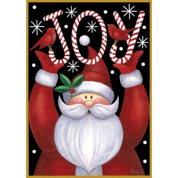'Santa Joy' Double Sided Christmas Garden Flag