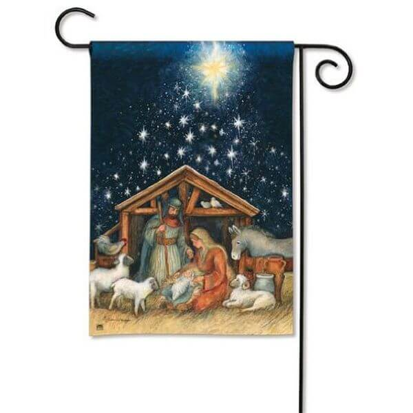 BreezeArt Holy Night Garden Flag
