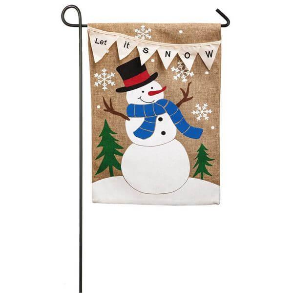 'Let it Snow' Garden Flag