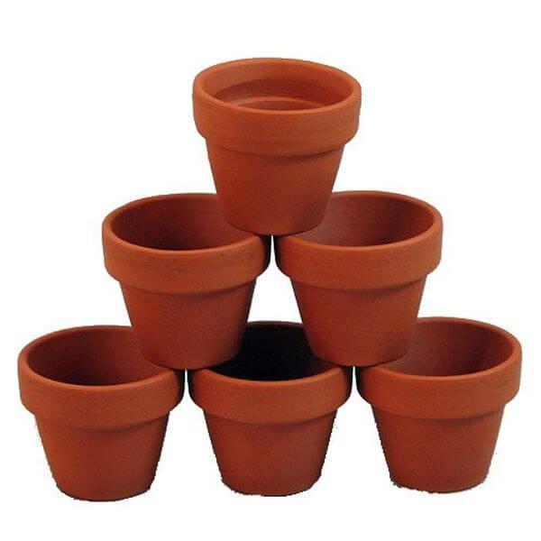 10 - 3 x 2 1/2 Clay Flower Pots