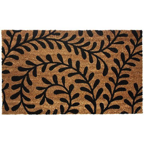 J & M Home Fashions Vinyl Back Coco Doormat