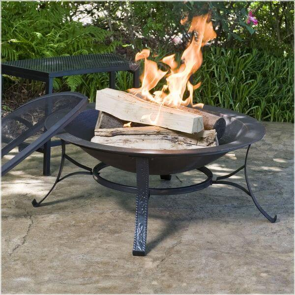 CobraCo 30-inch Round Cast Iron Copper Finish Fire Pit