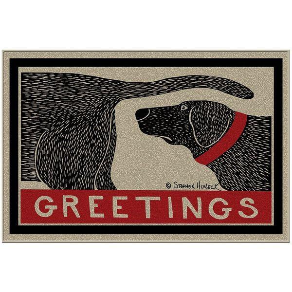 Humorous Dog Sniffing Welcome Doormat