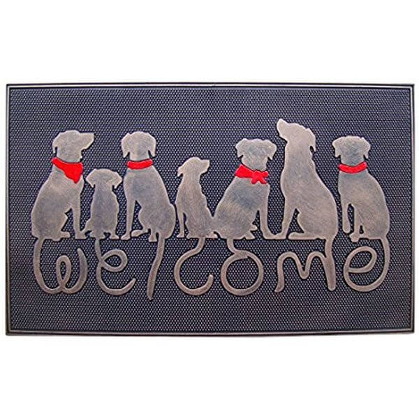 A1 Home Collections Rubber Dog Tail Welcome Doormat