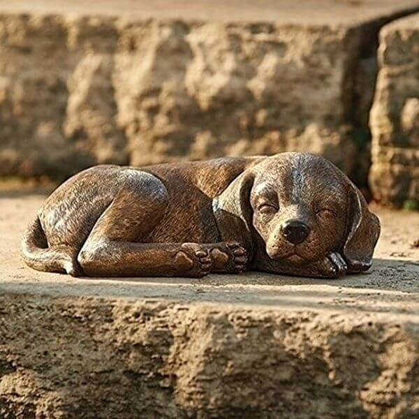 Sleeping Dog Garden Statue