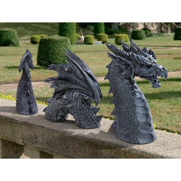Design Toscano Dragon of Falkenberg Castle Moat Lawn Statue