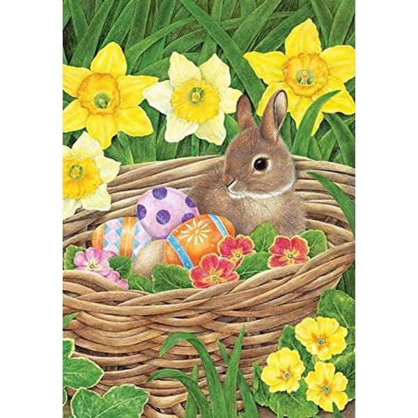 Easter Egg Basket Garden Flag