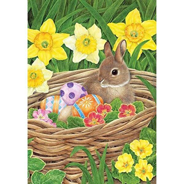 Easter Egg Basket Garden Flag