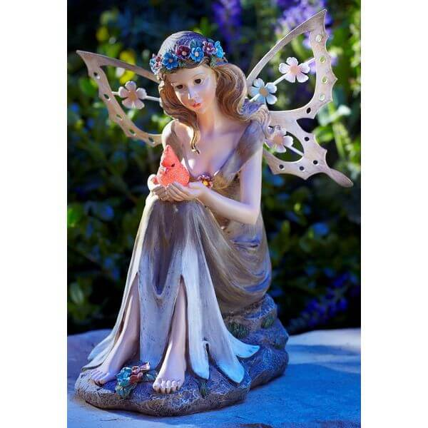 Moonrays Solar Powered Garden Fairy Statue