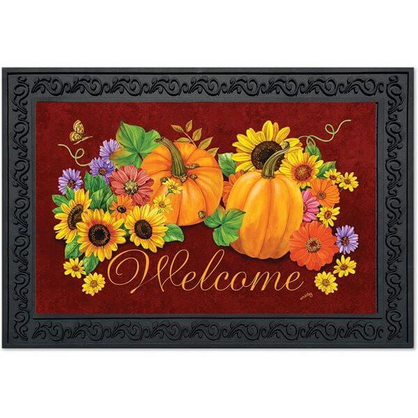 Fall Glory Floral Doormat