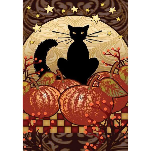Toland 'Moonlight Cat' Fall Garden Flag
