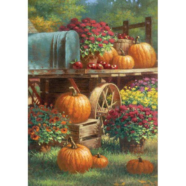 Toland 'Farm Pumpkin' Fall Garden Flag