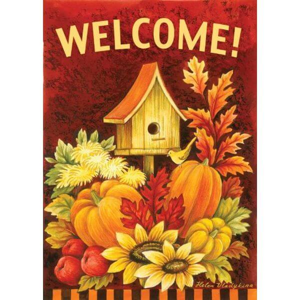 Toland 'Fall Birdhouse' Fall Garden Flag