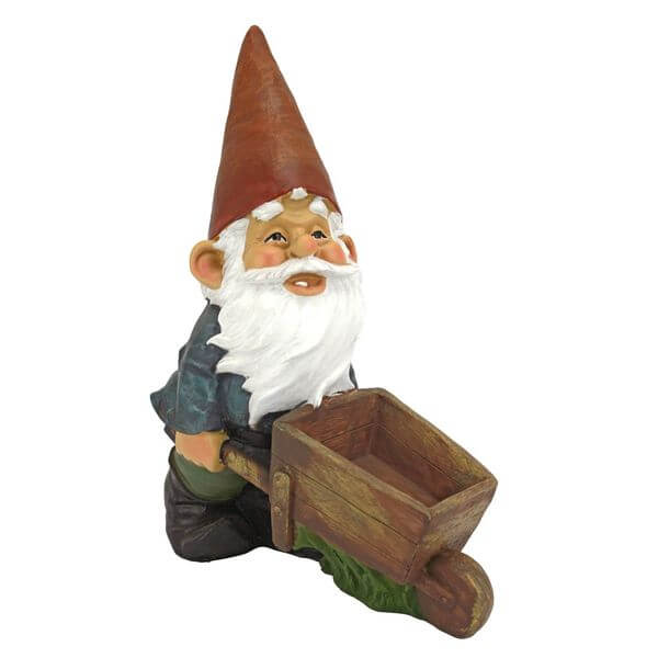 Design Toscano Wheel Barrel Willie Garden Gnome Statue