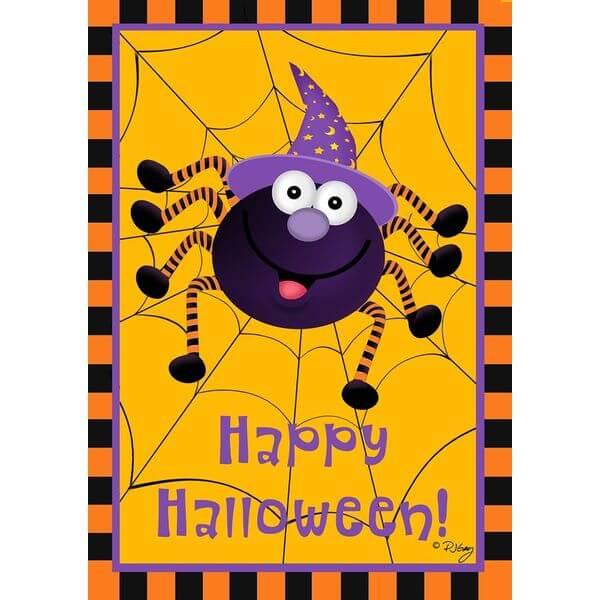 Briarwood Lane Spider Halloween Garden Flag