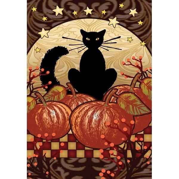 Toland 'Moonlight Cat' Halloween Garden Flag