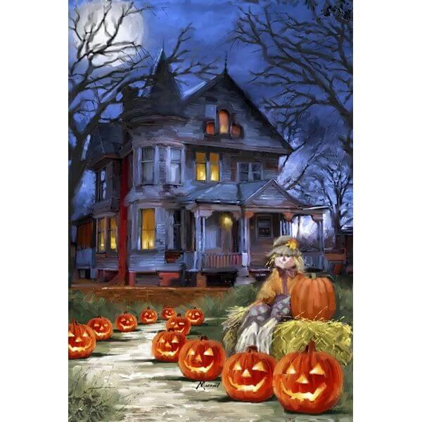 Toland 'Spooky Manor' Halloween Garden Flag