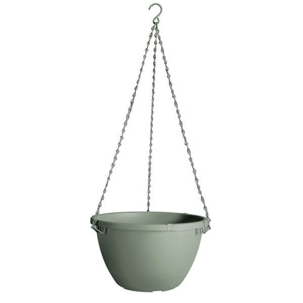Fiskars 12-Inch Hanging Planter, Thyme Green