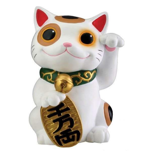 Maneki Neko Money Lucky Cat Chinese Japanese Garden Statue