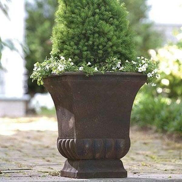 Gardman Large Rustic Metal Urn Planter