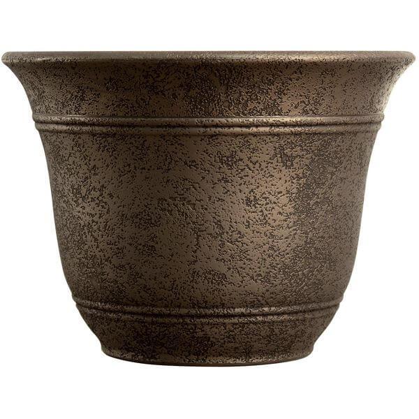 Listo Sierra Large Flower Pot, Nordic Bronze