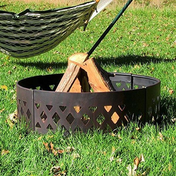 Sunnydaze Heavy Duty Crossweave Campfire Ring