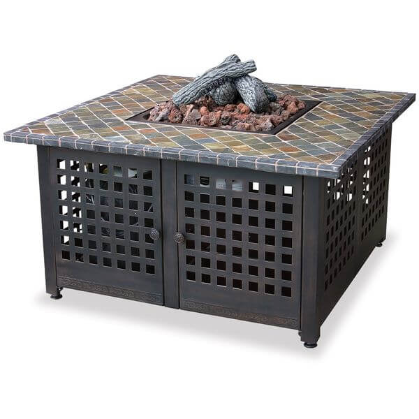 Endless Summer LP Gas Outdoor Firebowl with Slate/Marble Mantel