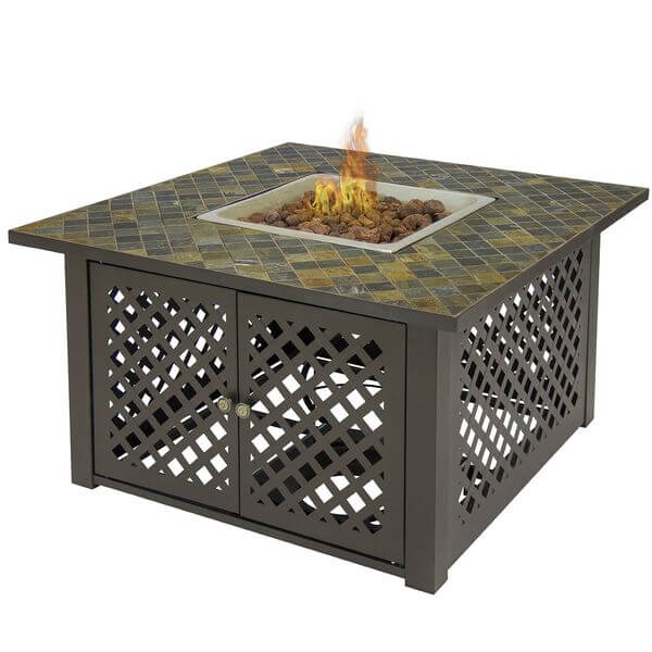 Best Choice Products Gas Outdoor Marble Fire Pit