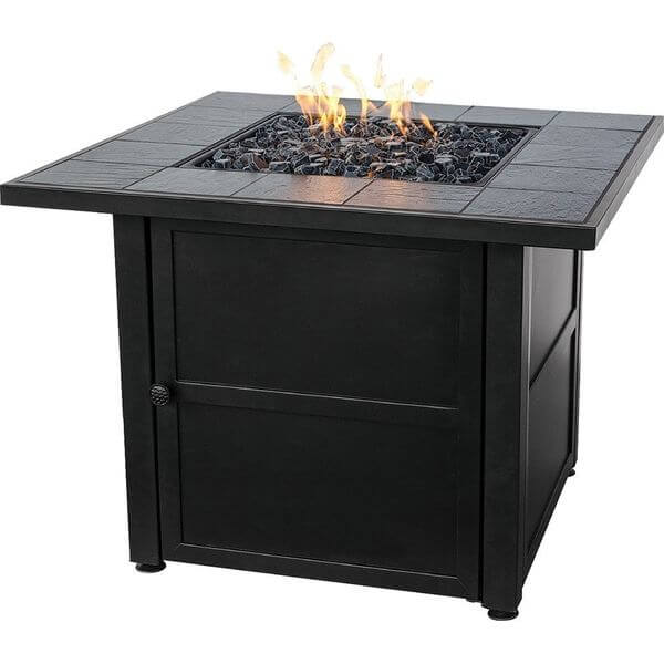 Endless Summer LP Gas Outdoor Fire Bowl with Slate Tile Mantel
