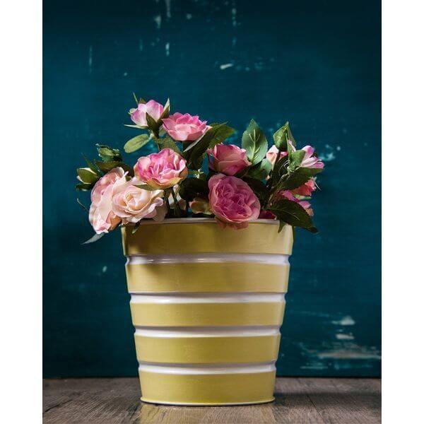Galvanized Metal Multipurpose Flower Pot