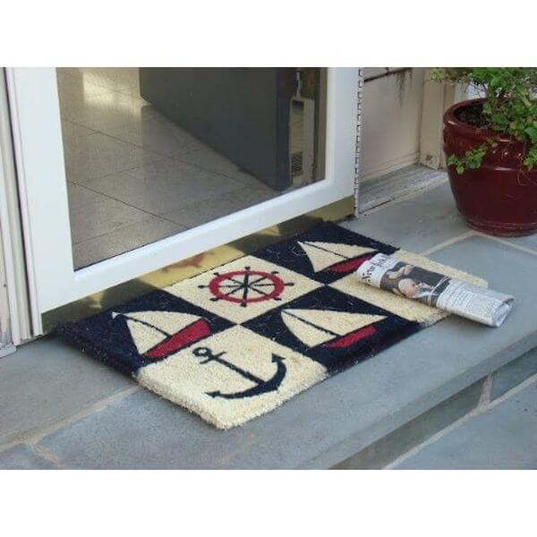 Kempf Nautical Design Rubber Backed Coco Doormat