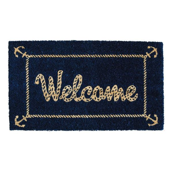 Nautical Welcome Coir Mat