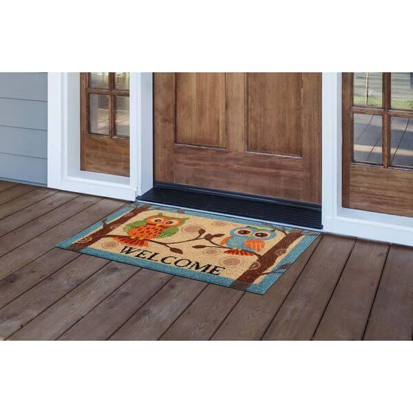 Milliard Owl Printed Coir Doormat