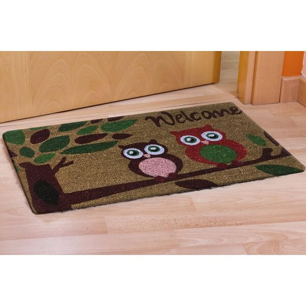 CastleMats Welcome Owl Doormat