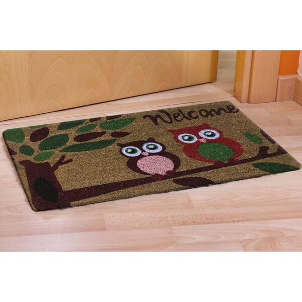 CastleMats Welcome Owl Doormat