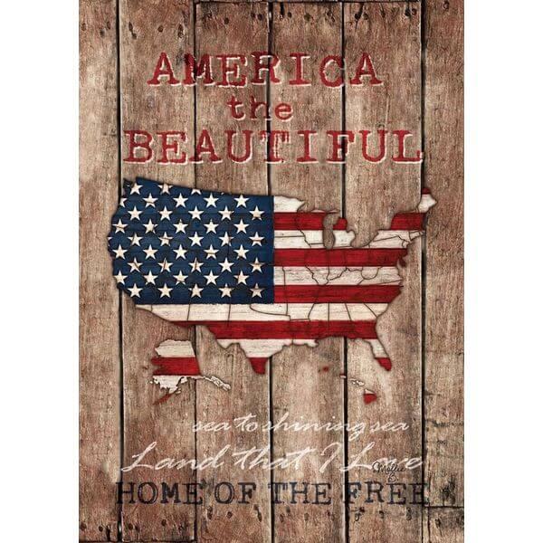 America the Beautiful Patriotic Garden Flag