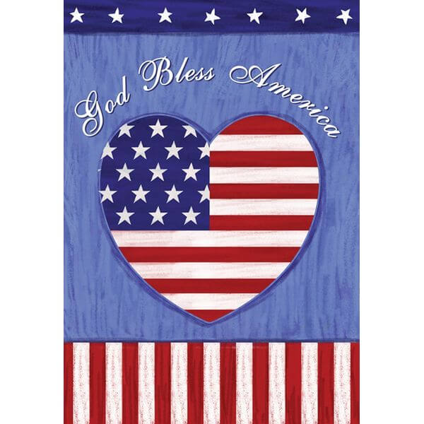 Toland 'God Bless America' Patriotic Garden Flag