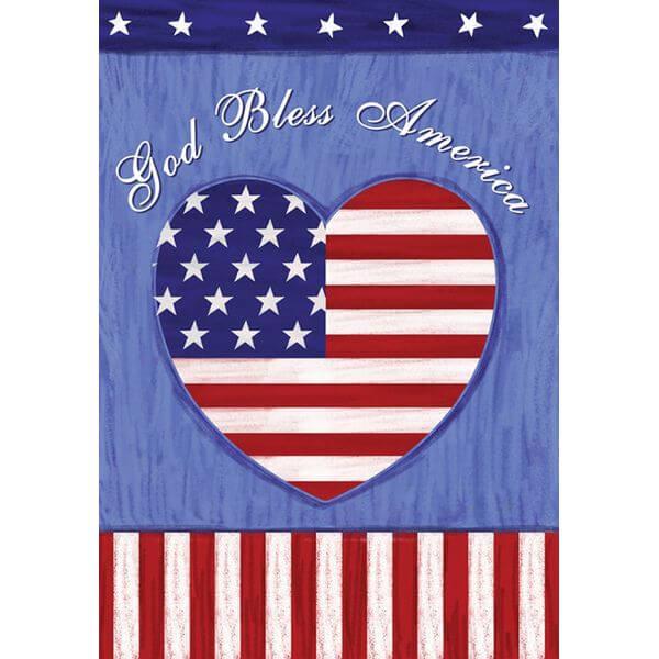Toland 'God Bless America' Patriotic Garden Flag