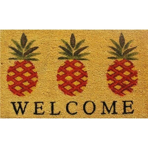 Home & More Pineapple Welcome Doormat
